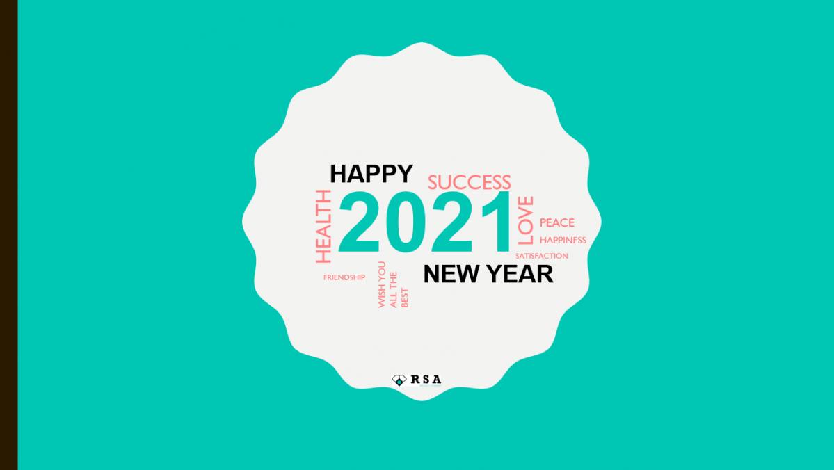 Toute l'équipe de RSA vous souhaite une bonne année 2021!